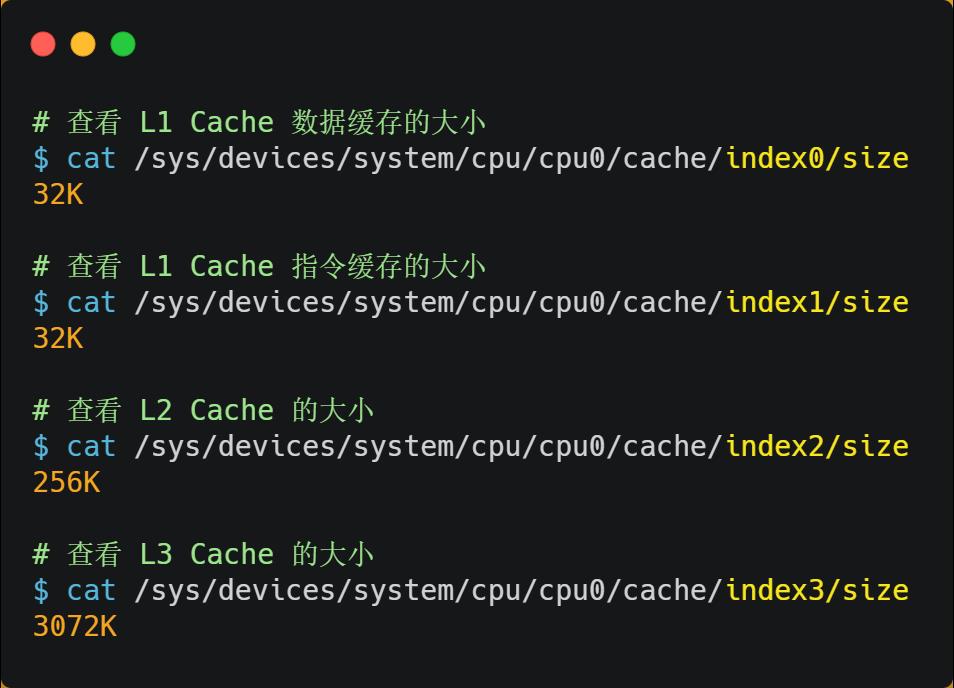 check cpu cache size